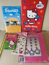 Hello Kitty Assorted Lot Datemate Notebooks Stickers Tattoos Cutout Hangers