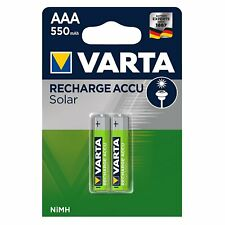 8 x AKKU VARTA AAA LONGLIFE Solar AAA 550mAh 1,2V LR06 MICRO ACCU 56733  NEU