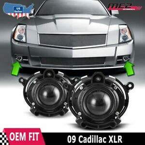Fits 09 Cadillac XLR Clear Lens PAIR OE Bumper Replacement Fog Light Lamps DOT