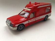 Siku 1630 Mercedes 260 E Binz Ambulanz Feuerwehr Krankenwagen rot W.Germany