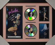 PINK P!NK SIGNED MEMORABILIA FRAMED 2 CD LIMITED EDITION V3 2016 #B