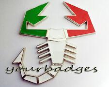 Bandera Italiana Cromo Esmalte Colores Abarth Scorpion Placa De Coche Placa Fiat Punto 500