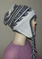 Brand New Made In Peru Super Fine 100% Alpaca Chullo With Felt Lining #729