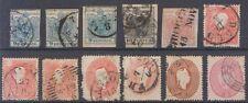 AUSTRIA & LOMBARDY VENETIA 1850-63 Sc 5e, 3-4, 10, 13-14, 17 (12x) USED SCV$382+