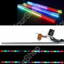 """24"""" 7-Color 5050 LED 48SMD Remote Colorful Knight Rider Strip lights Grille"""