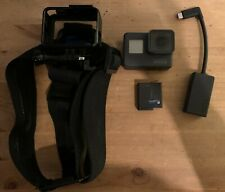 GoPro Hero 5 with mic adaptor and head mount. No Micro Sd Card Or Charger