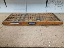 More details for 1 x wooden vintage printer typecase tray drawer