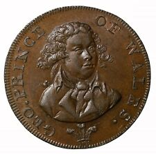 1794 Great Britain Lutwyche's Prince Wales Halfpenny Conder Token D&H-952