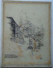 Illustration 1920s? Kansas City Missouri East Bottoms Jazz Age Ink Ashcan School