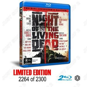 Night Of The Living Dead : 1968 + 1990 : Limited Edition 2264 :Brand New Blu-ray