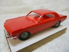 1/25 SCALE VINTAGE AMT ORIGINAL 1965 MUSTANG COUPE RED-ORANGE SLOT CAR #2-NICE!