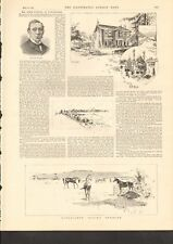 1892 Antique Print- Kingsclere Racing Stables