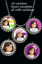 American Girl Grace BottleCap Necklaces party favors lot of 10 really cute