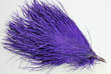 "Vintage purple ""vulture"" feathers quills ostrich fly tying millinery hat trims"