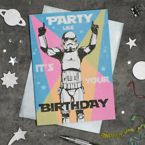 Star Wars Stormtrooper Card Party Like It's Your Birthday Retro Vintage
