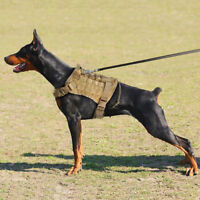 Military Tactical Training K9 Dog Harness Nylon Vest Adjustable for Police Dogs
