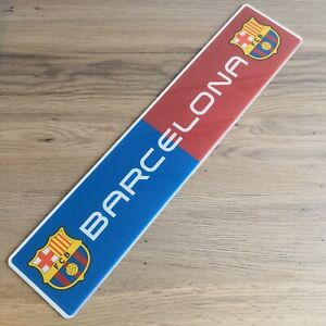 Personalised Name Barcelona Show Number Plate / Sign. Children's Football Club