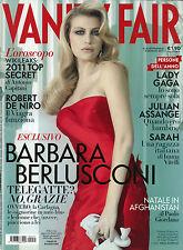 * VANITY FAIR *N°51 / 5/GEN/2011 * BARBARA BERLUSCONI * LADY GAGA * SARAH *