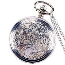 Vintage Retro Doctor Who Theme Necklace Quartz Pocket Watch Chain Mens Xmas Gift