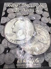 Complete set Washington Quarters 1965-1987  41 Coins in #3 Whitman