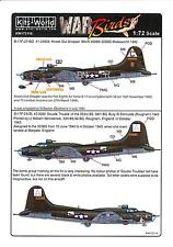 Kits World Decals 1/72 B-17F FLYING FORTRESS Knock Out Dropper & Double Trouble