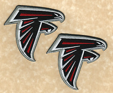 Lot of 2 - ATLANTA FALCONS NFL Team Logo Iron-on Football Jersey/Hat PATCHES!