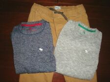 Abercrombie Kids Boys 7/8 3pc Pocket T-Shirts & Old Navy Joggers Pants Outfit
