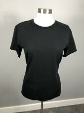 Top Shop Black T-shirt Sheer Mesh Back Goth Distressed Belted SZ 4