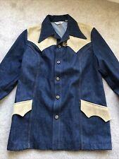 Vintage Lee Jeans Denim Shirt Jacket Made In Usa 70s 1970s Western Xl