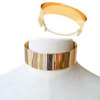 Charm Metal Wide Punk Necklace Choker Collar Bib Gold Chain Statement Jewellery