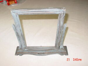 Vintage Antique Wood Swivel Picture Frame No Glass Used