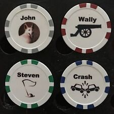 CUSTOM POKER CHIP / GOLF BALL MARKER - ADD  FREE PICTURE TEXT LOGO PERSONALIZE
