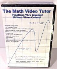 Math Video Tutor - 10 Hour Course - Fractions Thru Algebra! (DVD)