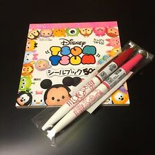 Disney Tsum Tsum 500 sheals Book & Ballpoint black ink 2 pcs. KAWAII SET