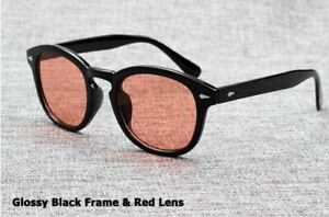 Mens Sunglasses Johnny Depp Robert Downey Tinted Blue Lens Retro Classic Fashion