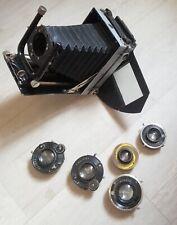 Unique Voigtlander 6x9 camera with Plaubell 120 roll film back + 5 lenses Linhof