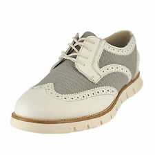 GBX Men's Hirt Wing Tip White Suede Size 8 M