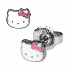 1 pares de pendientes acero quirúrgico pendientes Hello Kitty Studex sensitive