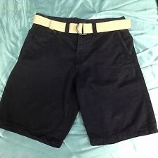 MENS SHORTS SIZE 30 DARK BLUE INCLUDES BELT BY NORTHWEST TERRITORY FREE SHIPPING