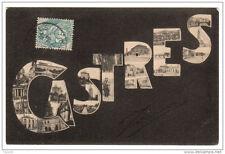 81 CASTRES lettres alphabet - voyagé 1907