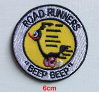 Road Runners cartoon badge clothes Iron on Sew on Embroidered Patch