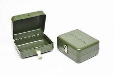 Vintage German Genuine Small Steel Metal Army Case Box Storage Container OLIVE