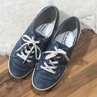 Josef Seibel Sneakers Womens 7 Distressed Blue Lace Casual Flat EU 37 Shoes