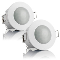 SEBSON 2x PIR Sensor Ceiling Light 360°, Flush Mounted, Infrared Motion Sensor,