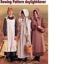 Girl Western Pioneer Dress Apron Bonnet McCall's 7231 Sewing Pattern New 7-8 #u