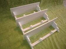 Set de 3 ESTANTERÍAS BALDA con COLGADORES, 60 cms. lacadas en color blanco