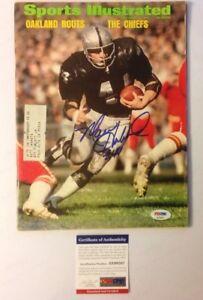Marv Hubbard PSA Authenticated Signed Sports Illustrated Oakland Raiders