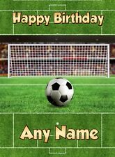 Personalised Football Birthday Card Son Grandson 6th 7th 8th 9th 10th 11th 12th
