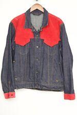 Custom Polo Ralph Lauren Jeans Company Denim Trucker Jacket M Red Western Yoke