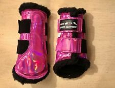 HKM Space Brushing Boots Full -Pink-Holographic-Bling- Fast+Free P&P
